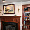 Mantel & Built-In Bookcases
