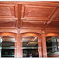Wet Bar Coffered Ceiling