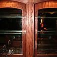 Oak Wet Bar Built-In - Pilaster View