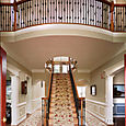 Staircase with forged wrought iron balusters (1 of 2)