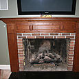 Cherry Mantel -After Installation