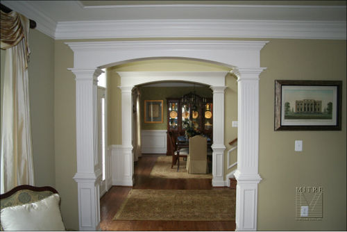 Mitre contracting inc archways for Arch inside home designs