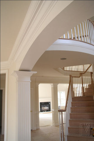Close-Up of arch and fluted column