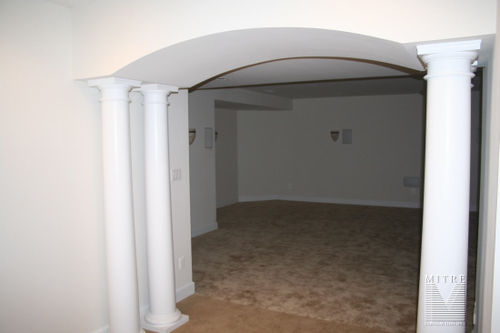 Drywall Archway with round tapered columns