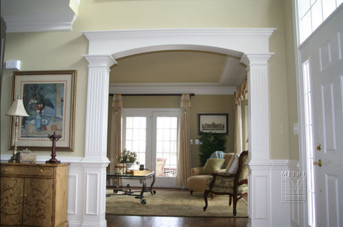 Custom Cased Opening, Wainscoting, Ceiling Moulding Trim, Chair Rail, Crown Moulding