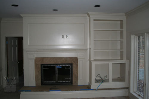 Built-In at fireplace for TV components
