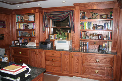 Office Built-Ins in Oak
