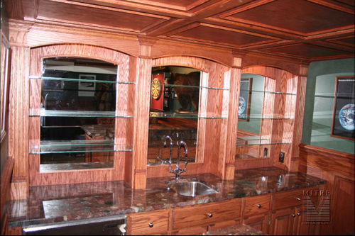 Wet Bar Oak Built-Ins