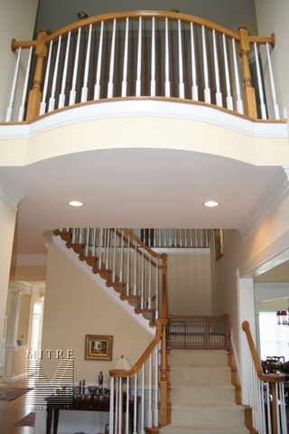 Oak Stair railings with painted balusters