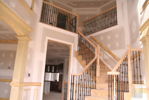 Balustrade with forged iron balusters