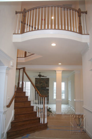 Curved overlook railings