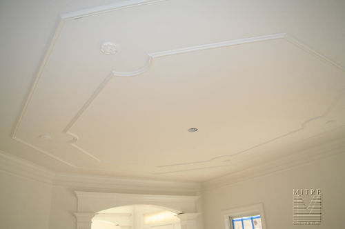 Dining room ceiling moulding panels