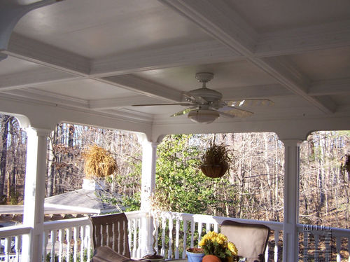 Back Porch coffered ceiling