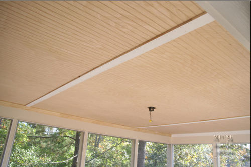 Beadboard porch ceiling - plywood
