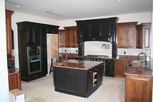 Custom cabinetry and granite