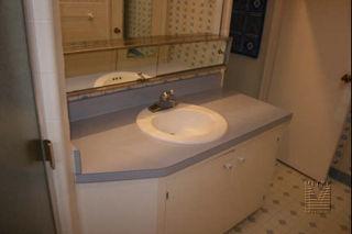bathroom remodel - before picture of vanity
