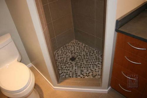 bathroom remodeled - showing shower tilework