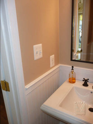 Powder Room Renovation Mitre Contracting Inc