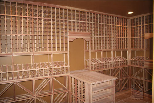 Climate controlled wine cellar with LED lighting