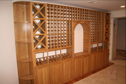 318 Bottle Wine Racking in Solid Oak with polyurethane finish