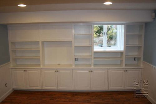 Built-In Bookcase Completed