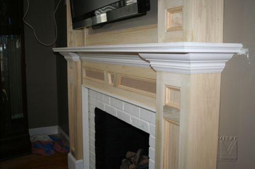 Fireplace Lower Mantel Close-up
