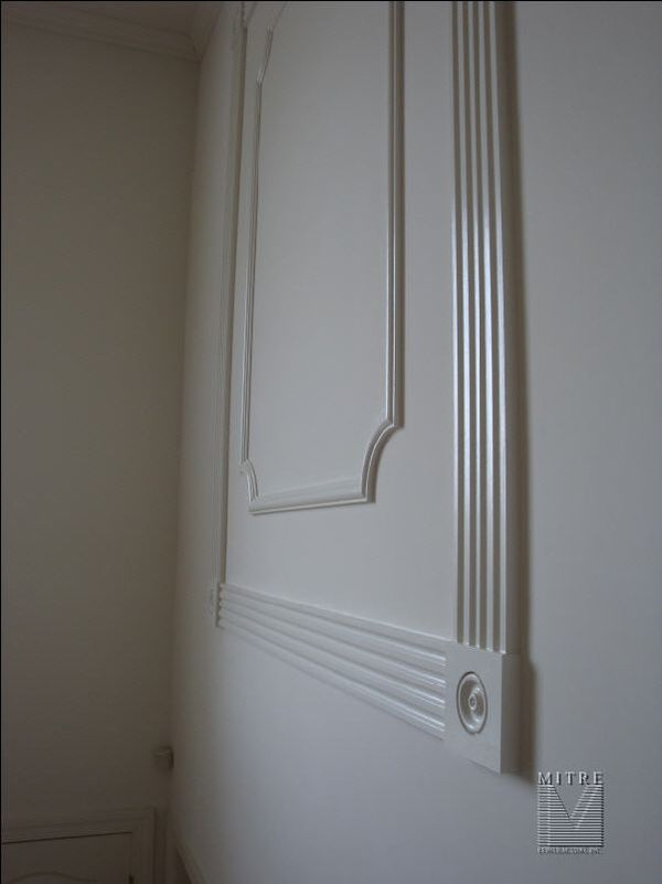 Fluted Moulding Decorative Wall Panel Treatments Mitre