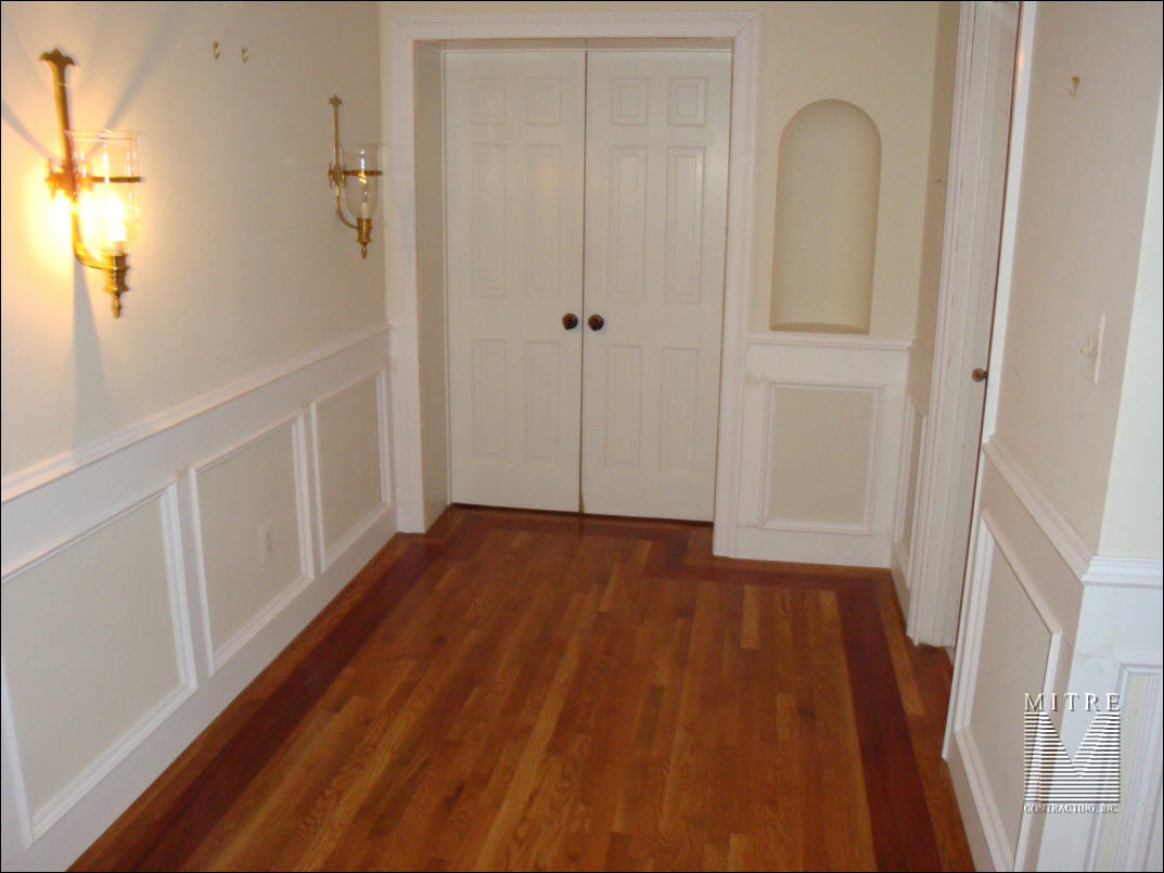 Flat wall paneled wainscoting - unpainted