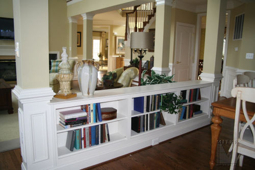 Half Wall Bookcase Built-Ins