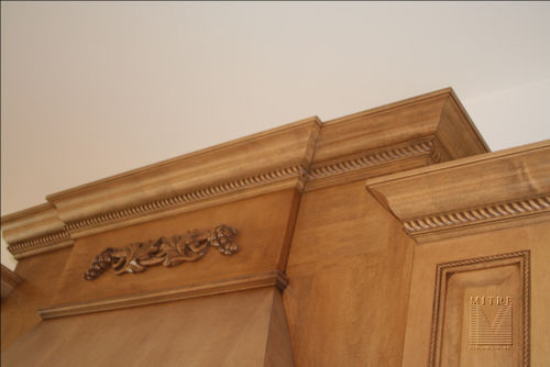 Close-Up of Crown Moulding around custom cabinetry