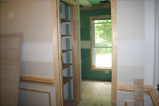 Trim installations, doors, shelves, mouldings