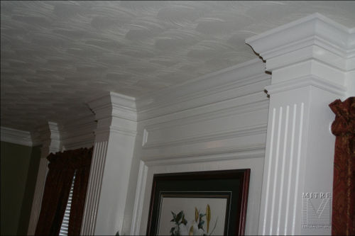 Master Bedroom Fireplace Addition Moulding Details