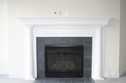 Mantel with 1/2 tapered columns, made form stock mouldings