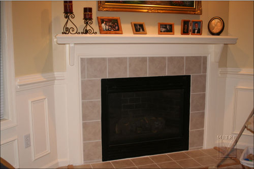 Mantel made from stock mouldings