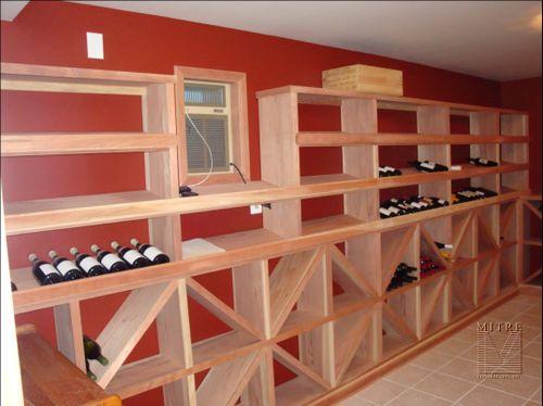 Left side redwood wine racking