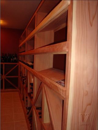 Redwood wine racking
