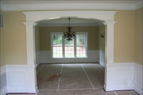 Dining Room Custom Cased Arched Openng