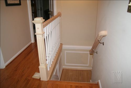 New railing, boxed newel (4090) style in poplar