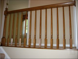 Before picture of balcony rail