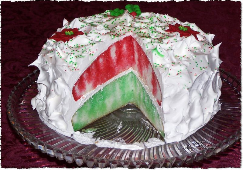 Christmas Jello Layer Cake