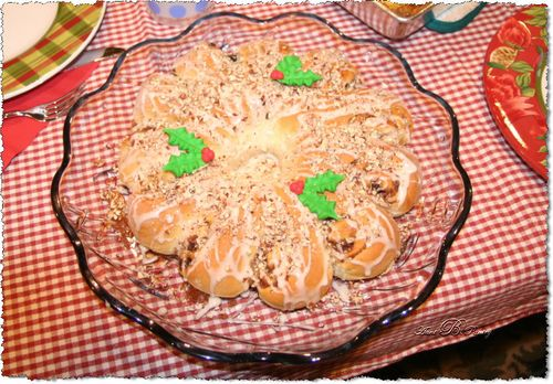 Christmas Decorated Tea Ring Pastry an Aunt B's Pantry Signature Product