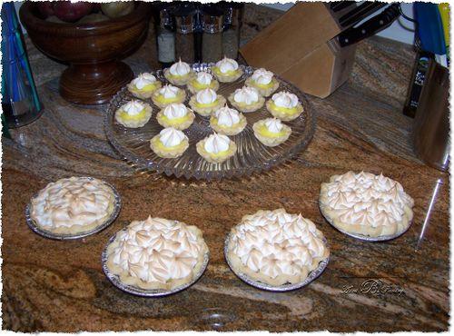 Lemon Tartlets & Lemon Meringue Mini Pies