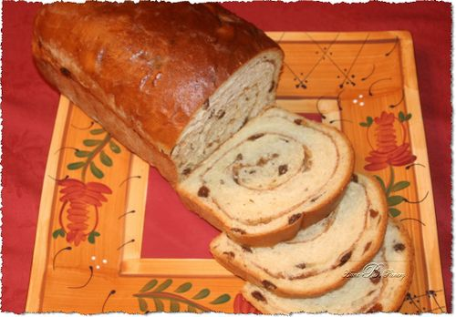 Cinnamon Raisin Bread Sliced