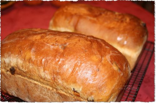 Cinnamon Raisin Bread Loaves