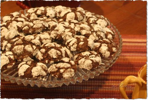 Chocolate Crinkles...cookies by Aunt B's Pantry