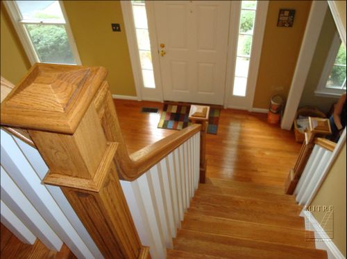 Landing Newel- looking into foyer