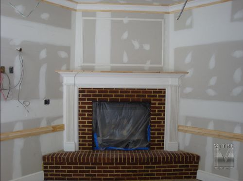 Condo Fireplace Mantel - After Picture