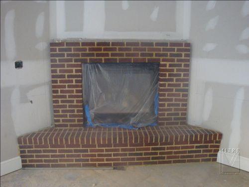 Condo Fireplace Mantel - Before