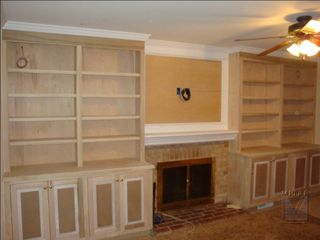 Family Room After Built-In Bookcase Installation