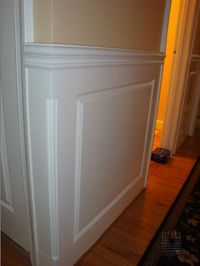 Foyer wainscoting...outside corner detail